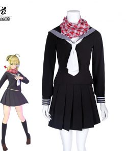 ROLECOS Game Fate EXTELLA LINK Cosplay Nero Claudius Cosplay Costume Winter Rome Costume Japanese School Uniform for Girl Anime
