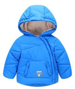 2017 Boys Jackets Cotton Warm Hooded Kids Thick Coats Outwear Children's girls cartoon Winter baby Clothes parka infant overcoat 1