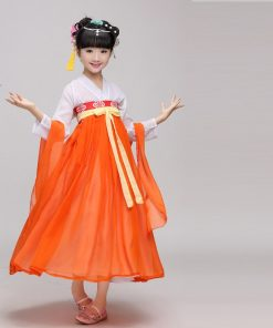 DJGRSTER New Child Girl Ancient Chinese Traditional National Costume Hanfu 4 Colors Tang Dress Princess Children Hanfu Dresses 1