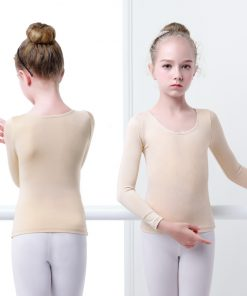 Girls Adult Nude Ballet Dance Clothes Soft Comfortable Underwear Microfiber Body Shaping Warmer Ballet Tops  1
