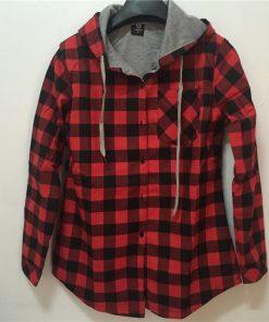 HZIJUE New Kanye West Hip hop  Plaid Shirt Men High Street Fashion Swag Clothing Loose Hipster Longline HOOD Chemise S-XXL 1