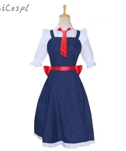Anime Kobayashi's dragon maid Cosplay Costume Suit Tohru Dress Outfit Lovely Kawaii Party Fantasy For Adult Women Girl Student