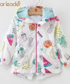 Bear Leader Girls Coats 2018 New Autumn Fashion Cartoon Fruit Coats Animals Full Sleeve With Zipper Kids Coats For 3T-7T
