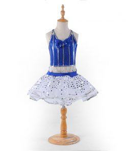 Children Paillettes Modern Dance Performance Costumes for Kids  Girls Dancer Jazz Dancing costume Outfit