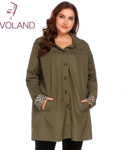 IN'VOLAND Large Size XL-5XL Women Rain Coat Jacket Spring Autumn Plus Size Hooded Windbreaker Lightweight Waterproof Raincoat