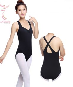 Adult Thick Strap Back Cross Princess Dance Leotards Female Ballet Dress
