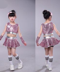 Children Jazz Dance Performance New Sleeveless Street Dance Navel Suit 1