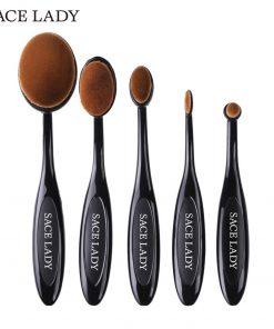 SACE LADY Make Up Brushes Set Beauty Professional Toothbrush Soft Makeup Foundation Brush Kit Face Eye Concealer Brand Tool 1
