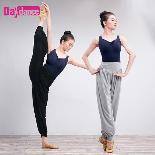 Girls Women Harem Pants Black Cotton Casual Trousers Jogging Yoga Belly Ballet Dance Pants For Training