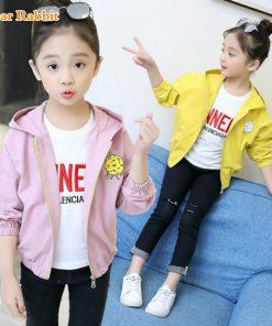 2018 New Pattern Children's Garment Girl Casual Coat Spring Clothes Child Cartoon Printing Children Even Hat Windbreaker jackets 1