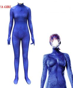 X-men Film Mystique 3D Print Cosplay Costume BLue Print Spandex Halloween Cosplay Costume 1