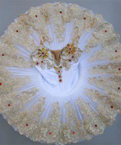 Professional plattered Tutu Pink Ballet Training Dance Performance Costume Tutu Children Sling Swan stage costume 1