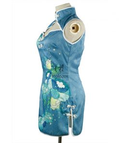 Custom Size Anime Ayase Eli Love Live Cheongsam Cosplay Dress Blue 1