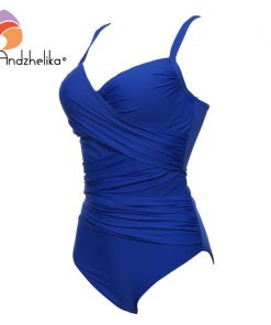 Andzhelika Sexy One Piece Swimsuit Women Summer Beachwear Vintage Mesh Swimwear Bathing Suits Bodysuit Monokini Plus Size  1
