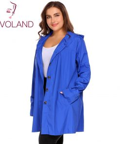 IN'VOLAND Large Size XL-5XL Women Rain Coat Jacket Spring Autumn Plus Size Hooded Windbreaker Lightweight Waterproof Raincoat 1