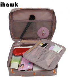 Mihawk Women's Fashion Fox Pattern  Cosmetic Bag Travel Necessary Cosmetics Markup Bag Storage Organizer Accessories Supply Gear