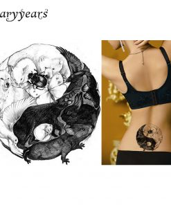 1 Piece Sexy DIY Body Art Beauty Makeup Waterproof Tattoo KM-073 Bear Wolf Butterfly Animal World Decal Temporary Tattoo Sticker