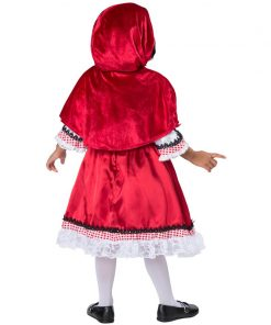 Fantasia Little Red Riding Hood Cape Child Kid Carnival Fancy Christmas Halloween Cosplay Costume Fancy Disguise Dress For Girl 1
