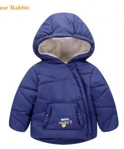 2017 Boys Jackets Cotton Warm Hooded Kids Thick Coats Outwear Children's girls cartoon Winter baby Clothes parka infant overcoat