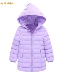 2018 spring New Warm Girls Thin Down Cotton Jackets & Coats Baby Kids autumn winter Down Jacket Children 1-8Y Outwear Clothes 1