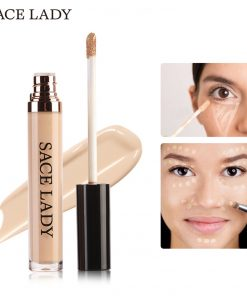 SACE LADY Full Cover Pro Makeup Concealer Cream Face Corrector Liquid Make Up Base For Eye Dark Circles Facial Natural Cosmetic