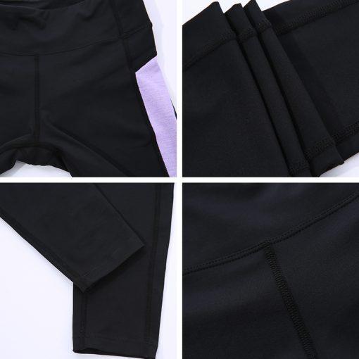 Andzhelika 2018 Women Yoga Legging Elasticity Waist Sport Workout Trousers Sexy Gym Fitness Pants Jogging Clothes Wear Sportwear 5