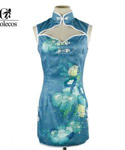 Custom Size Anime Ayase Eli Love Live Cheongsam Cosplay Dress Blue
