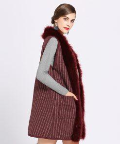 Faux Fur Coat Winter Women 2018 New Fashion Casual Warm Slim Sleeveless Faux Fox Fur Vest Winter Jacket Women Casaco Feminino 1