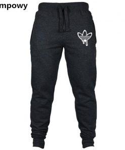 2018 Fall Men's Black doodle Print Trousers Jogger Men's Pants Casual Slim Fit Men's Fitness Sweatpants Big Size wholesale