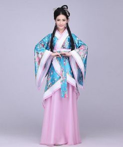 DJGRSTER 2018 New High Quality Ancient Chinese Costume Chinese Folk Dance National Dance Costume  Women's Classical Hanfu
