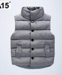 Kids Vest Boys Winter 2018 Cotton Warm Baby Girl Vest Children Clothing Autumn Sleeveless Jacket Waistcoats Outerwear 2 4 8 Year 1