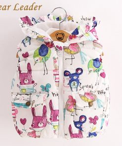 Bear Leader Children Clothing Outerwear&Coats 2018 New Autumn Baby Girl Clothes Sleevele Animal Graffiti Print for Grils Jackets