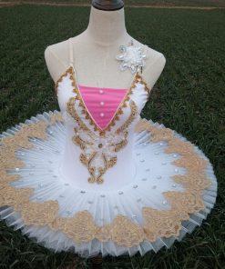 Adult Professional Ballet Costume Women Gymnastic Dancing Dress Swan Lake White pink blue purple Tutu Ballet Dress  1