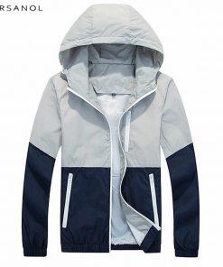 Varsanol Spring Jacket Men Windbreaker 2018 Autumn Fashion Jacket Men's Hooded Casual Jackets Male Coat Thin Men Coat Outwear
