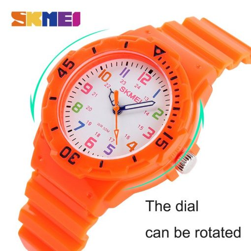 SKMEI Fashion Casual Children Watches 50M Waterproof Quartz Wristwatches Jelly Kids Clock boys Hours girls Students Watch 1043 2