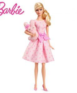 Barbie Doll  Fashion Cartoon Gift New Design Pink Blessing Dift For Children Dolls for Birthday Christmas Children Gifts DGW37 1