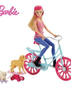 Barbie Originals Bicycle Riding Kit Dog Toys for children Of American Girl Doll Brinquedos For Birthday kawaii Gift CLD94 1