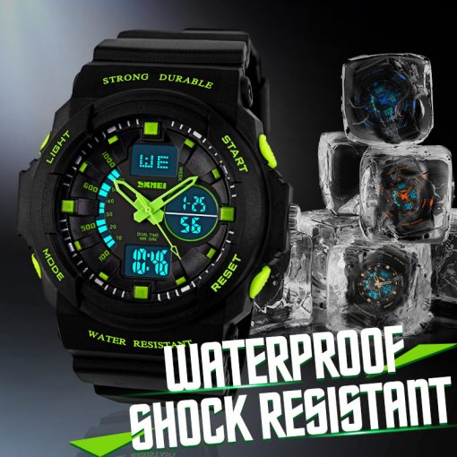 SKMEI Shock Resistant Watches Waterproof Men Women Kids Outdoor Sport Watch Multifunction Boy Children Fashion Wristwatches 1