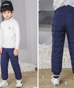Kids boys pants trousers Duck Down harem pants boys winter pants for girls Kids Elastic Waist Thick trousers Children's Clothes 1