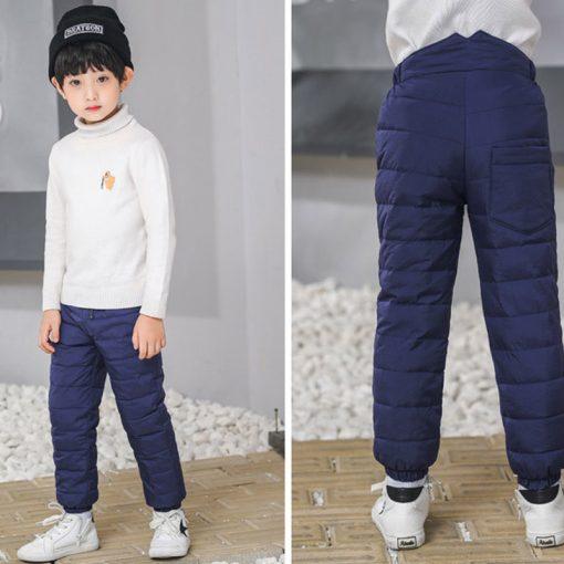 Kids boys pants trousers Duck Down harem pants boys winter pants for girls Kids Elastic Waist Thick trousers Children's Clothes 1