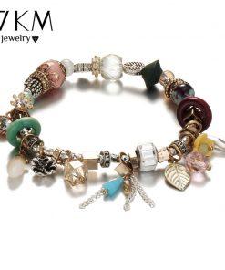 17KM Vintage Boho Jewelry Flower Tassel Bracelets & Bangles For Women Femme Beads Charm Crystal DIY Bracelet Bijoux Ethnic 2018  1