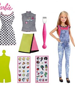 Original Barbie Doll DIY EMOJI Style Toys Barbie Set with Dress Cloth Accessories Sticker Barbie Boneca Set Model Gift Bonecas