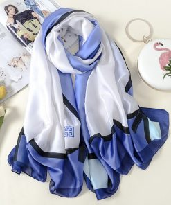 VISNXGI 2018 Fashion Women Silk Scarf Beach Shawl And Echarpe Wrap Designer Scarves Plus Size Female Beach Bandana Print Wraps