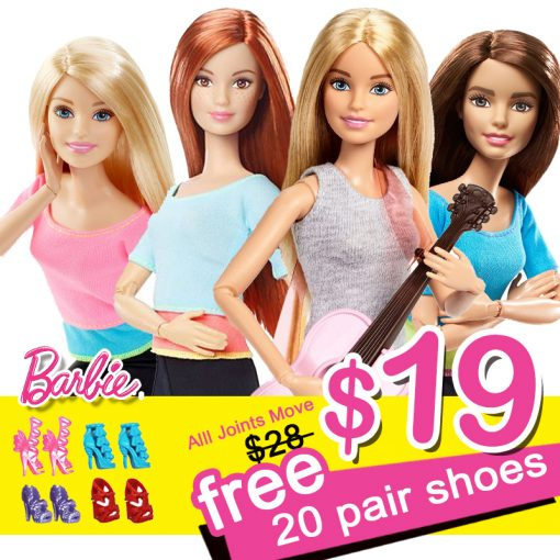 Original Barbie American Gir Andl 20 Pair Shoes With Dolls 4 Style Gymnas Joints Movement Toys For Children The Girl Bonecas