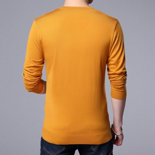 COODRONY Knitted Wool Pullover Men Casual V-Neck Sweater Men Brand Clothing Mens Cotton Sweaters Slim Fit Pull Homme Shirts 7129 4