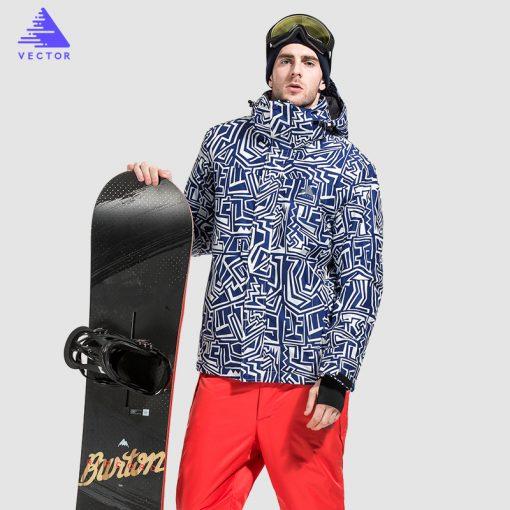 VECTOR Brand Ski Jackets Men Waterproof Windproof Warm Winter Snowboard Jackets Outdoor Snow Skiing Clothes HXF70012