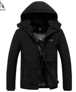 PEILOW NEW Plus Size L-6XL,7XL,8XL Winter Jacket Men Hat Detachable Warm Coat Cotton-Padded Outwear Mens Coats Jackets Hooded 1