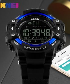 SKMEI Smart Watch Men Outdoor Sports Watches Pedometer Calorie Bluetooth Fitness Tracker 50M Waterproof Wristwatches 1226 1