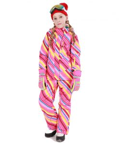Detector Girls Ski Suit Waterproof Kids Ski Jacket Ski Pants thermal boys Phibee high quality Winter Clothing -30 degree 1