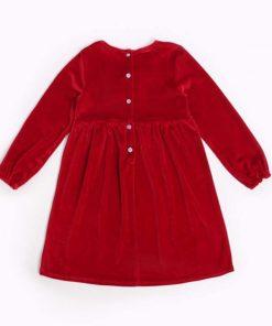 Humor Bear Children Clothes 2018 Kids Dress Spring and Autumn Girls Dress Kids Bowknot Print Fashion Brand Princess Dress  1